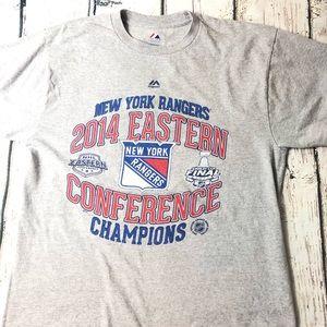 Majestic Shirts - New York Rangers NHL T-Shirt 2014 Majestic NYC NY